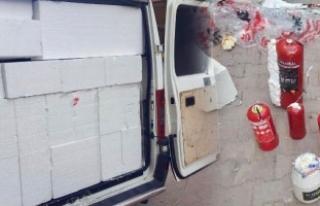 Patlayıcı dolu minibüsün fotoğrafları ortaya...