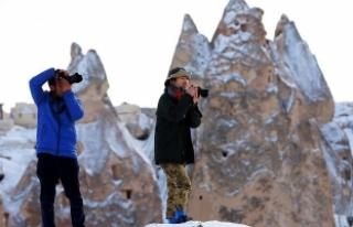 Turistler 'beyaz Kapadokya'ya hayran kalıyor
