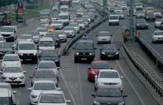 Trafiğe kayıtlı araç sayısı yüzde 0,43 arttı