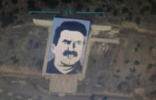 """Afrin'deki """"Öcalan Anıtı"""" SİHA..."""