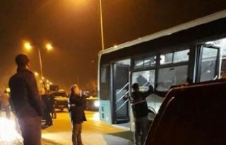 Mersin'de Belediye otobüsüne molotof kokteyli...