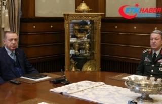 Cumhurbaşkanı Erdoğan Akar'ı kabul etti