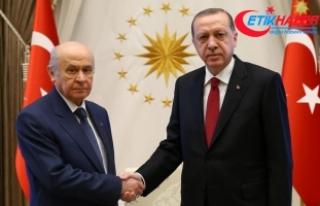 Cumhurbaşkanı Recep Tayyip Erdoğan, MHP Genel BaşkanıDevlet...