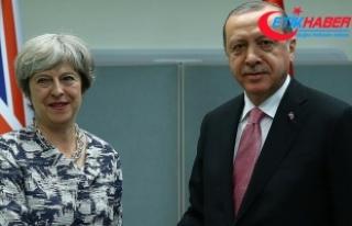 Cumhurbaşkanı Erdoğan ile İngiltere Başbakanı...
