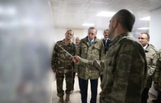 Cumhurbaşkanı Erdoğan askerlere hitap etti