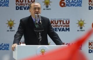 Cumhurbaşkanı Erdoğan: İnşallah biraz sonra Burseya...