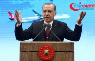 Erdoğan: THY'yi dünyanın en büyük filosuna...