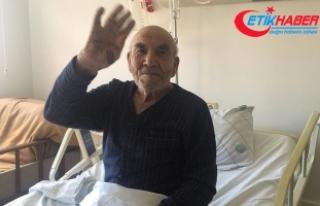 Evi yanan Ali Dede yeniden hastaneye kaldırıldı