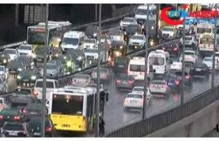 İstanbul'da kar: Trafik yoğunluğu yüzde 71'e...