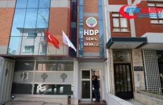 Kirayı almak için geldiği HDP Genel Merkezi'nde...