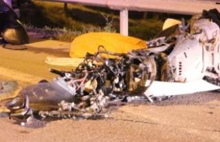 Maltepe'de trafik kazası, motosiklet sürücüsü...
