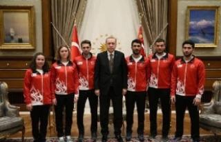 Milli Sporcular, Kış Olimpiyatları öncesi Cumhurbaşkanı'nın...