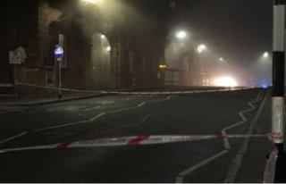Nottingham tren istasyonunda büyük yangın