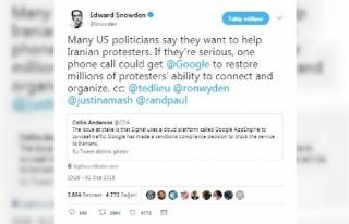 Snowden: ABD ciddiyse Google'a bir telefonla İranlı...