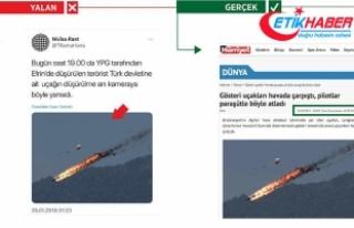 Terör örgütü PYD/PKK Malezya'da düşen akrobasi...
