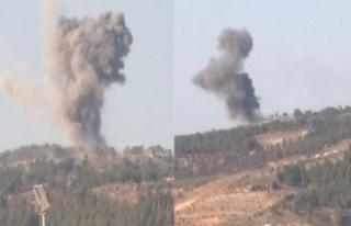 Terör hedefleri karadan ve havadan bombalanıyor
