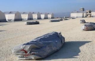 Türk Kızılayı'ndan İdlib'te yeni çadır...