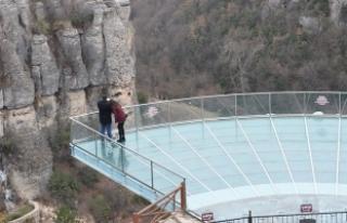 400 bin kişi Kristal Teras'tan kanyonu izledi
