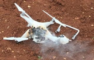 Afrin'de teröristlerin kullandığı 'drone'...