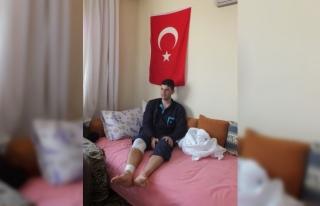Afrin gazisi Mersin'deki evine getirildi