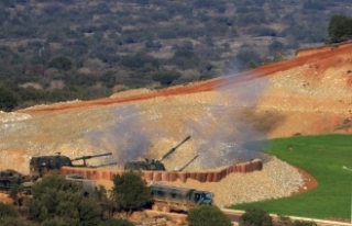 Afrin'in batı kırsalındaki teröristlere ait...