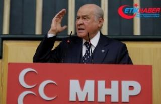MHP Lideri Bahçeli: Biz ki ölümlerle eğlenen tunç...