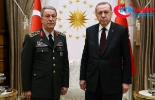 Cumhurbaşkanı Erdoğan, Genelkurmay Başkanı Akar'ı...
