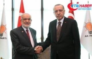 Cumhurbaşkanı Erdoğan, Karamollaoğlu'nu kabul...