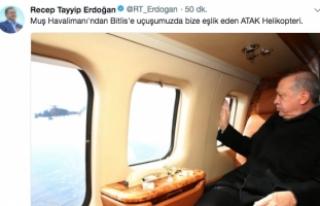 """Erdoğan'dan """"ATAK"""" paylaşımı"""