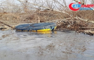 Kaçakları taşıyan bot Meriç Nehri'nde alabora...