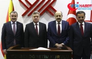 Makedonya Cumhurbaşkanı Ivanov YÖK Başkanı Saraç'la...