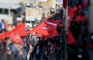 Mardin'de Zeytin Dalı Harekatı'na destek...