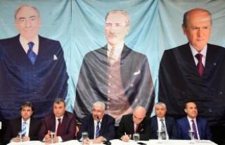 MHP'li Yalçın: Liderin örse vurduğu yere balyoz...