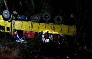 Orman işçilerini taşıyan kamyon devrildi: 2 ölü,...