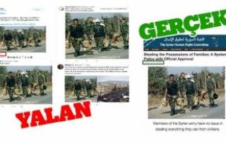 PYD/PKK destekçileri, Esed askerlerinin hırsızlığını...