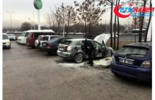 Sigarayla bindiği otomobilindeki mutfak tüpü patladı,...