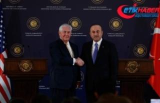 Dışişleri Bakanı Çavuşoğlu Tillerson ile telefonda...