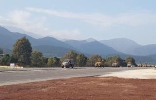 Afrin'e sinyal kesici askeri araçlar gönderildi