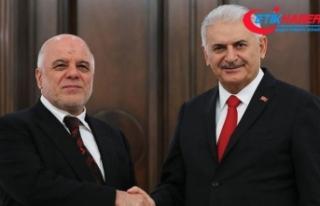 Başbakan Yıldırım ile Irak Başbakanı İbadi...