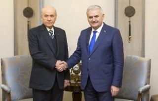 Başbakan Yıldırım'dan Bahçeli'ye tebrik...