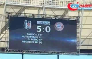 Beşiktaş B.Münih Şampiyonlar Ligi karşılaşması...