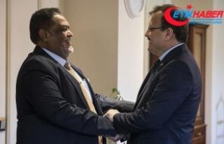Çavuşoğlu, Sudanlı Bakan Elrekaby'yi kabul...