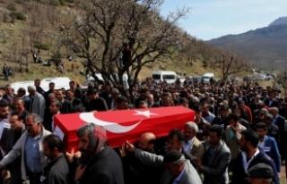 Diyarbakır'da şehit olan gönüllü köy korucusu...
