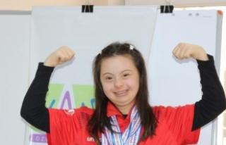 Down sendromlu Şevval, Türkiye şampiyonluğuna...