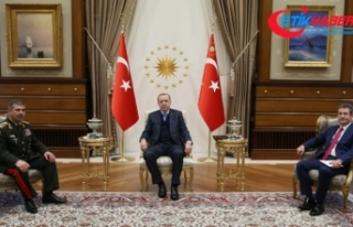 Erdoğan, Azerbaycan Savunma Bakanını kabul etti