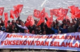 Hakkari'de Zeytin Dalı Harekatı'na destek...