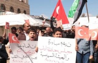 İdlibliler rejimin saldırılarına karşı Türkiye'den...