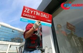 İstanbul'da 'Zeytin Dalı Caddesi'...