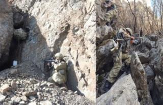 Komandoların katıldığı sınır ötesi operasyonda...