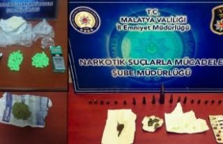 Malatya'da uyuşturucu operasyonu: 23 gözaltı